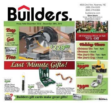 Last Minute Gifts! - Builders