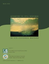 advancing oil spill response in ice-covered waters - Alaska ...