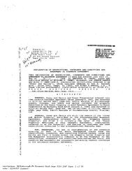 Declaration of Restrictions and Easements - Land for Sale in Florida
