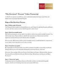 """The Envision® Process"" Video Transcript - Wells Fargo Advisors"
