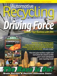 July / August 2011 - Automotive Recyclers Association