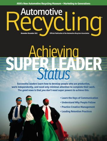 November / December 2011 - Automotive Recyclers Association