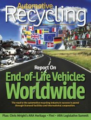 September-October 2012 - Automotive Recyclers Association