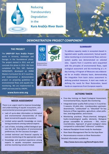 Demonstration Project Highlights.pdf - Reducing Transboundary ...