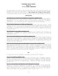 Course Descriptions 12-13 - Highland School District