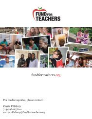 20 12 Year in Review - Fund For Teachers