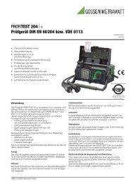 PROFITEST 204⏐+ Prüfgerät DIN EN 60204 bzw. VDE 0113