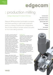 Edgecam Production Milling - Vero Software