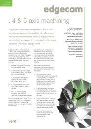 Edgecam 4 & 5 Axis Milling - Vero Software