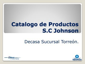 Catalogo de Productos S.C Johnson
