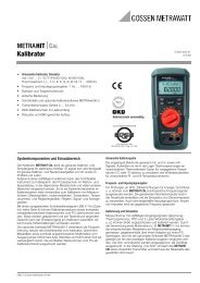 METRAHIT⏐CAL Kalibrator - PK elektronik Poppe GmbH