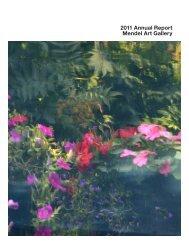 2011 Annual Report Mendel Art Gallery