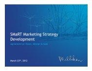 SMaRT Marketing Strategy Development - MTS