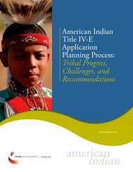 The American Indian Title IV-E Application Planning Process: Tribal ...