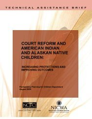 Court Reform and American Indian and Alaskan Native Children