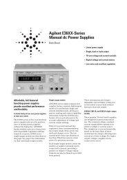 Agilent E36XX-Series Manual dc Power Supplies - PK elektronik Mess