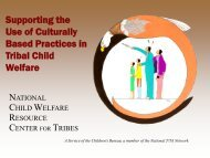 Supporting the Use of Culturally Based Practices in Tribal Child ...