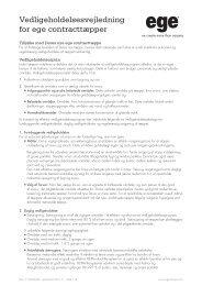 Læs vejledning for tæppefliser… - Vittrup Gulve