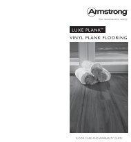 LUXE PLANK™ ViNyL PLANK FLooriNg - Armstrong