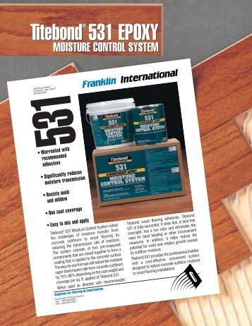 Franklin 531 Moisture Control System - FloorOne.com