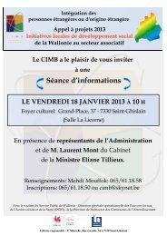 Appel à projets ILDS 2013 - Infos à connaître - - CIMB