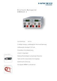 Hameg HM8040-3 Dreifach-Netzgerät - PK elektronik Poppe GmbH