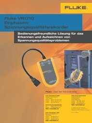 Fluke VR1710 Einphasen - PK elektronik Poppe GmbH