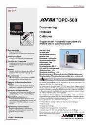 JOFRATM DPC-500 Serie