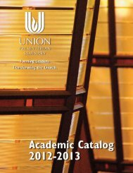 Academic Catalog 2012-2013 - Union Presbyterian Seminary
