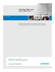 Solid Edge OEM Supply Chain Collaboration - Edge Software
