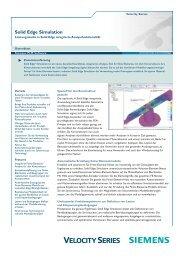 Solid Edge Simulation Fact Sheet (German) - All4edge.de