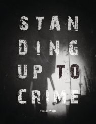 STANDING UP TO CRIME, by Yedida Wolfe