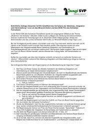 Schriftliche Anfrage Alexander Gröflin betreffend des Verhaltens der ...
