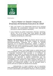 Nuevo Máster en Gestión Integral de Empresas Alimentarias ...