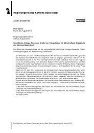 Regierungsrat des Kantons Basel-Stadt - Grosser Rat - Kanton ...