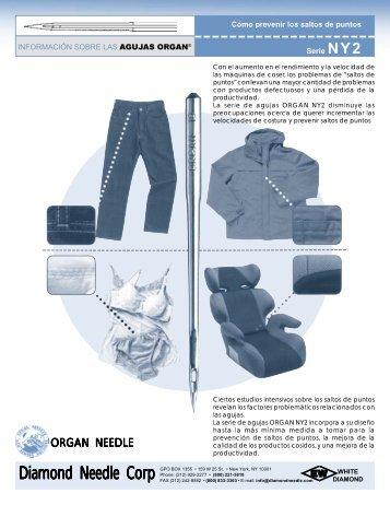 ORGAN INFO SHEET - NY2 SERIES - Diamond Needle Corp.