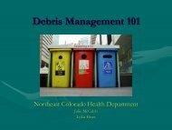 Debris Management 101 - Nchd.org