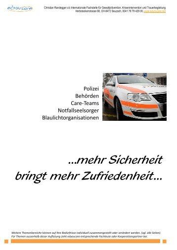 Unterlagen für Polizei Behörden Care Teams ... - Edyoucare