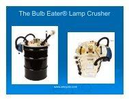 The Bulb Eater® Lamp Crusher