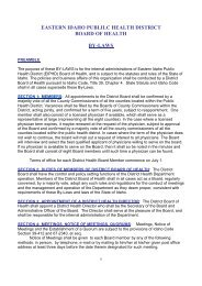 eastern idaho publilc health district board of health by-laws