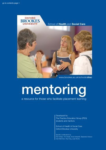 Mentoring Handbook - Faculty of Health and Life Sciences - Oxford ...