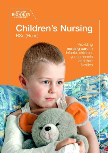 Children's Nursing - Faculty of Health and Life Sciences - Oxford ...