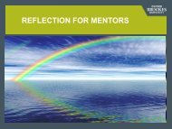 Reflection for Mentors