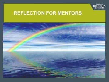 Mentor reflection