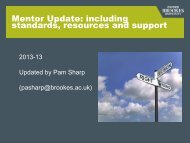 Mentor update overview of standards to support learning and ...