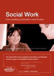 Social Work - Oxford Brookes University