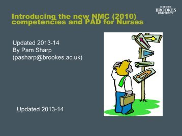 Introducing the New NMC comptencies and PAD for nurses