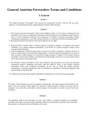 General Austrian Forwarders Terms and Conditions I ... - UnitCargo