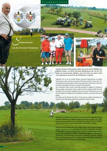 August 2012 - Golf Resort Berlin Pankow