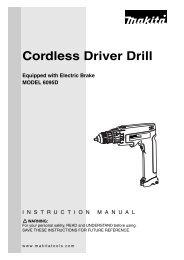 Cordless Driver Drill - Makita